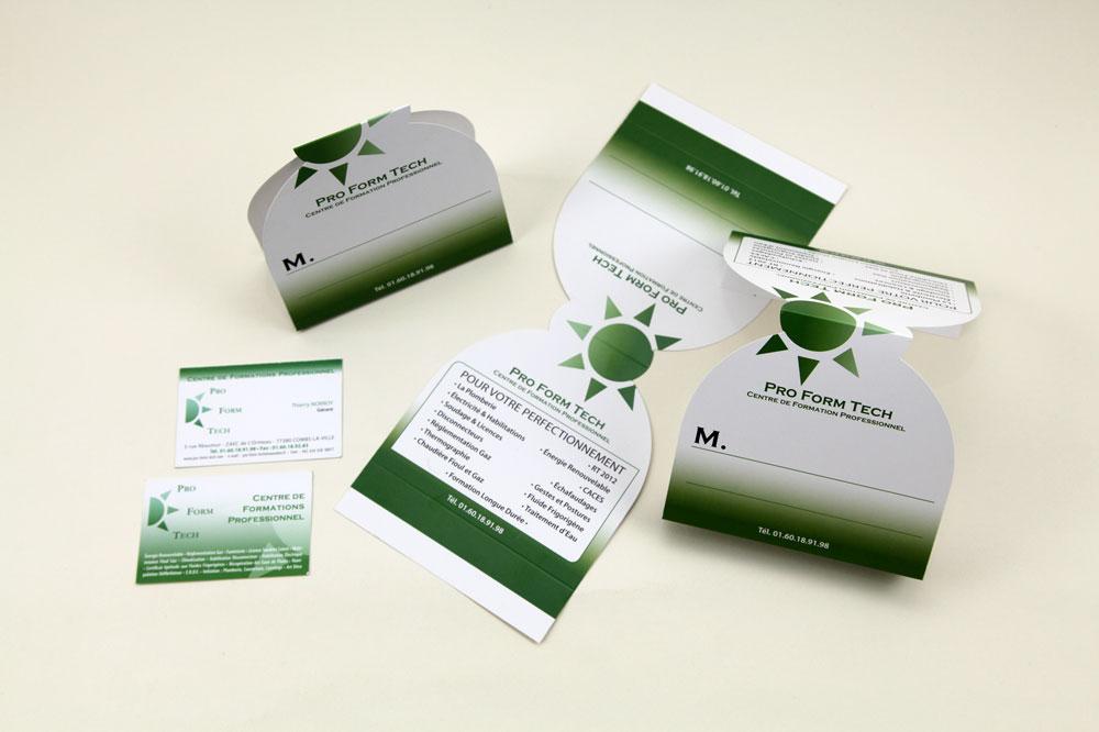 Cartes De Visite Plv Client Proformtech Intervention Conception Charte Graphique Mise En Page Xprint Suivi Fabrication